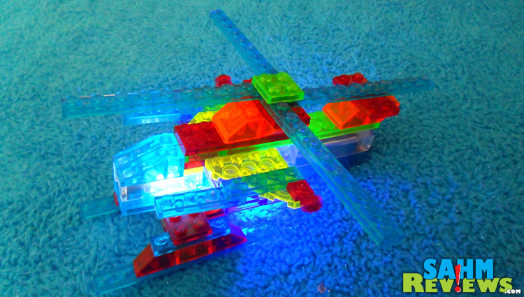 Laser Pegs Completed Helicopter